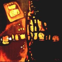 Frammenti, acrilico su tela Anno 2009 80x80